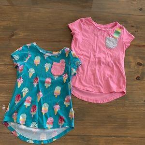 Size XS (4-5) shirt bundle.